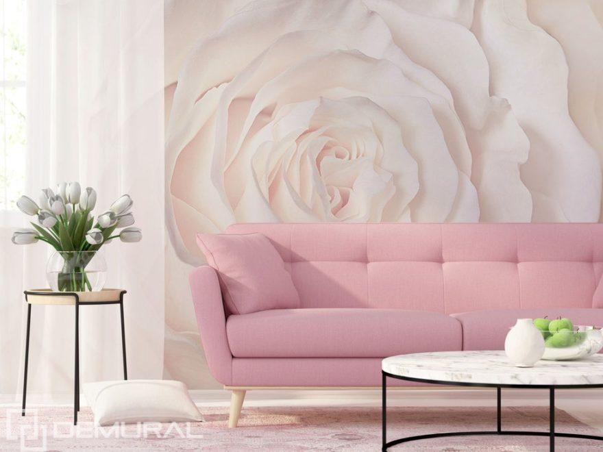 Fototapeta - Lehkost ve jménu Růže - Pastelové stěny - Demural