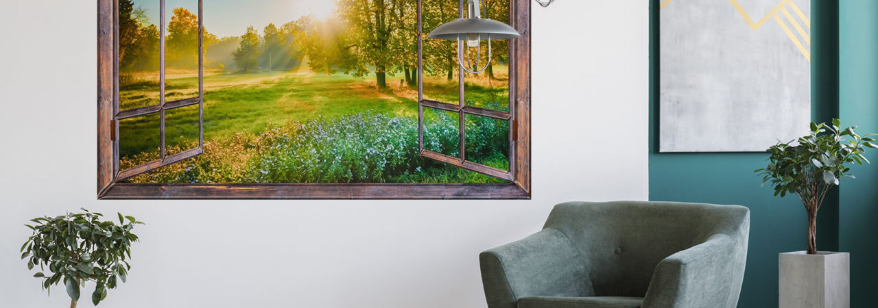 Fototapeta výhled z okna - Demural