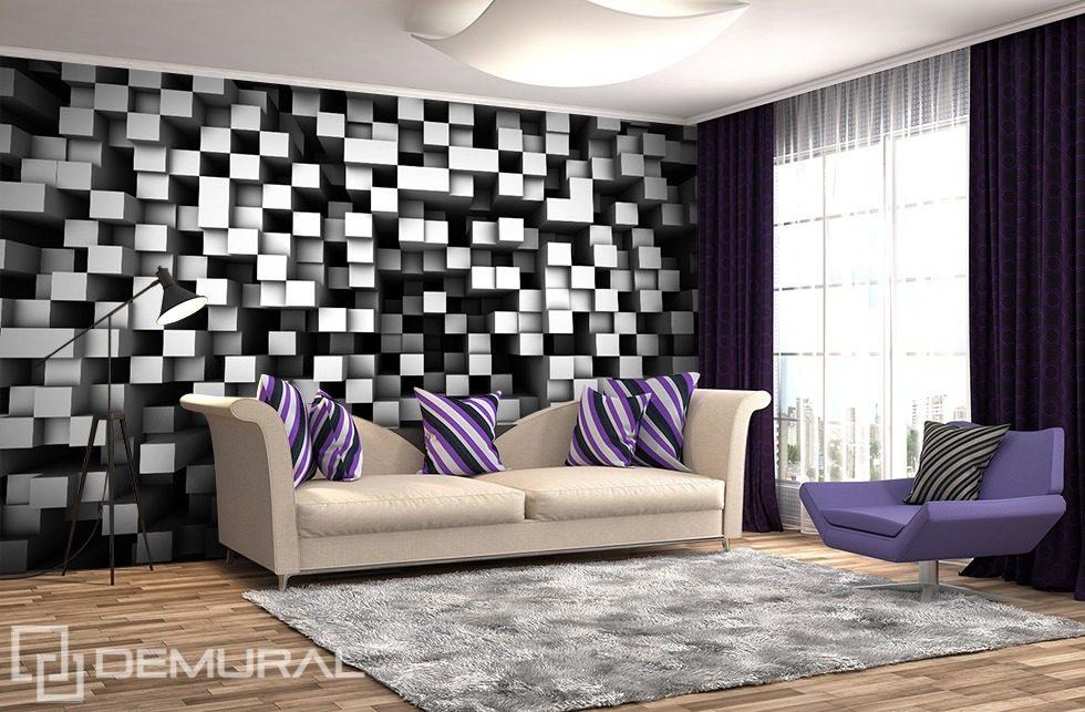 Kubistick ernob l kostky fototapety trojrozm rn 3d for 3d wallpaper for home uk